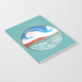 Painting of the Ocean on a Penny Print Notebook