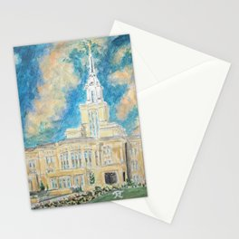 Payson Utah LDS Temple Stationery Cards