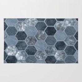 Abstract Jeans Rug