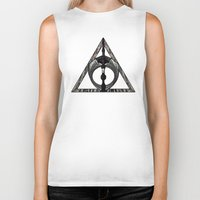 deathly hallows Biker Tanks featuring Master of Death by Talesanura