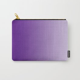 Violet to Pastel Violet Vertical Linear Gradient Carry-All Pouch