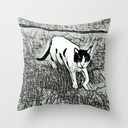Street Cat XVII Throw Pillow
