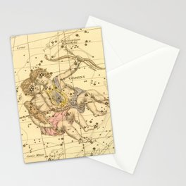 Vintage Gemini Constellation Map (1822) Stationery Cards