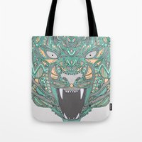teeth Tote Bags featuring Teeth by Alexandria Robinson