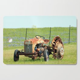 Old Tractor & Bluebonnets Cutting Board