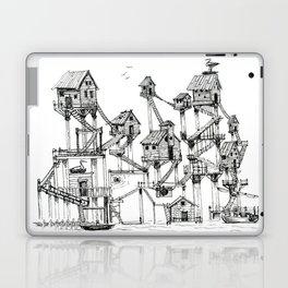 "Fantastic Landscape ""Fishermen Village"" with maze Laptop & iPad Skin"