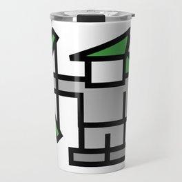 8bit Robin Hood Character Travel Mug