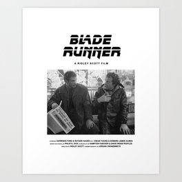 Blade Runner Behind the Scenes Movie Poster Art Print