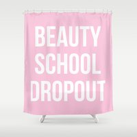 grease Shower Curtains featuring Beauty School Dropout - Grease Inspired by Rachel Additon