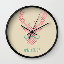 Ohh Dear Sir Wall Clock