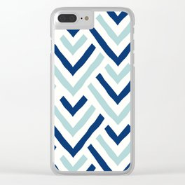 Barbados blue Clear iPhone Case