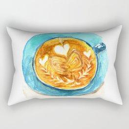 A Latte Hearts Rectangular Pillow