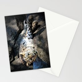 Leopard Boudoir II Stationery Cards