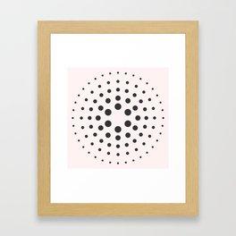 Mid-Century Modern Art - Bubblegum Spiral Dots Framed Art Print