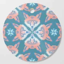Pastel Fox Pattern Cutting Board