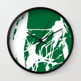 Green Base Wall Clock