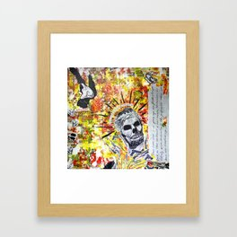 Truth the Fallen King Mixed-Media Collage Framed Art Print