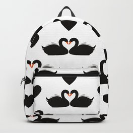 Black swans and love hearts Backpack
