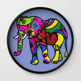 psychedelephant Wall Clock