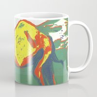 camel Mugs featuring Camel by Victoria Silveyra