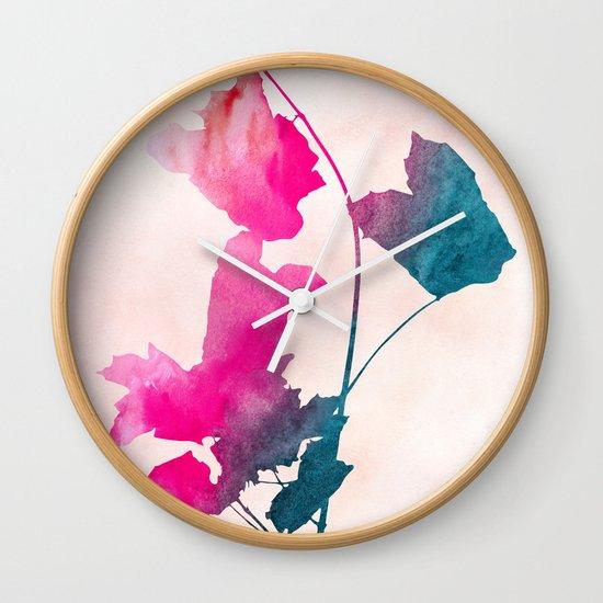 maple 1 watercolor by Jacqueline Maldonado & Garima Dhawan Wall Clock