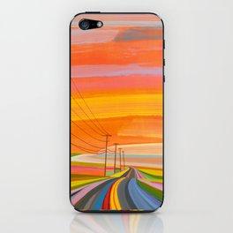 Sunset on Old Montauk Highway endless iPhone Skin