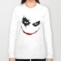 the joker Long Sleeve T-shirts featuring Joker by Sport_Designs