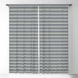 Benjamin Moore Hale Navy Blue Gray Triple Horizontal Stripes on Color of the Year 2019 Metropolitan Blackout Curtain