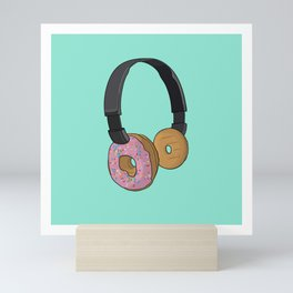 Donut Headphones Mini Art Print