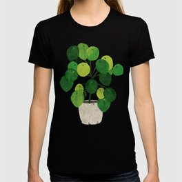 Pilea Peperomioides interior plant T-shirt