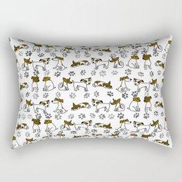 Jack Russell Terrier Dog Cartoon Rectangular Pillow