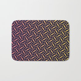 Pink & Yellow Texture Pattern Bath Mat