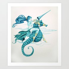 Sea Warrior Art Print