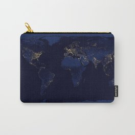 Map of The World with Lights Carry-All Pouch