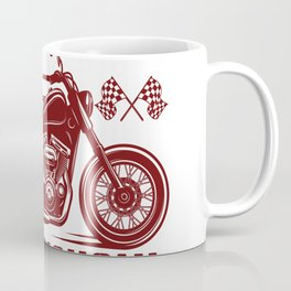 Funny Biker Sayings Sometimes I look back on my life and I'm seriously impressed I'm still alive Coffee Mug