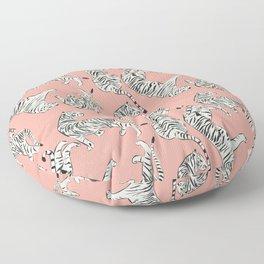 Pink Tiger Pattern 006 Floor Pillow