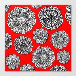 red mandala maze  Canvas Print