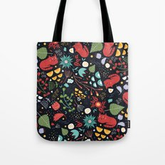 cats and flowers Tote Bag