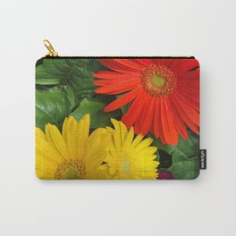 Colorful Daisies Carry-All Pouch