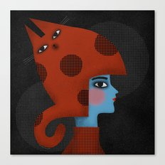 RED CAT HAT Canvas Print