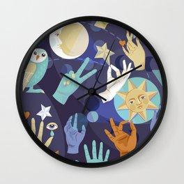 Mystical Tribes Wall Clock