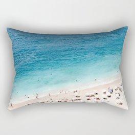 Areal Beach Photography Rectangular Pillow