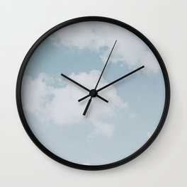 summer clouds Wall Clock