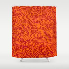 orange red flow Shower Curtain