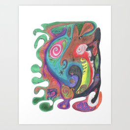Drawing #57 Art Print