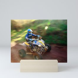 ATV offroad racing Mini Art Print