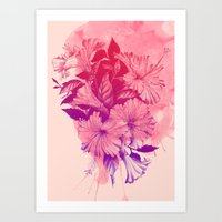 hibiscus Art Prints featuring Hibiscus by Magenda