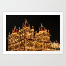 Mysore Palace on Dasara Art Print