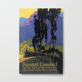 Vintage poster - Sunset Limited Metal Print
