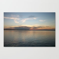 Sunset over NC marsh Canvas Print